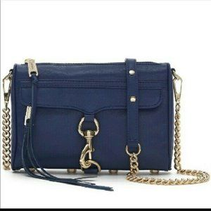 Rebecca Minkoff Mini MAC Clutch Crossbody Bag Navy
